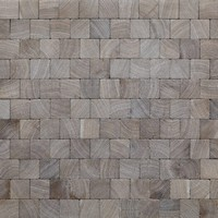 Smoked Oak Square Cobbles with White Oil
